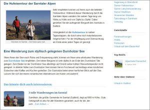 Screenshot: Sarntal.org Reisführer
